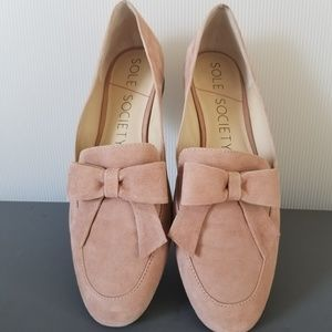 Sole Society - Tannse Bow Loafer | Antique Rose
